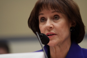 Former IRS official Lois Lerner invokes her Fifth Amendment right against self-incrimination at a congressional hearing in March. (Lauren Victoria Burke/AP)